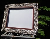 Hawaiian Limpet Seashell Picture Frame, Beautiful Opihi and False Opihi Shells adorn wooden frame, One Of A Kind, Sustainable, Beach Wedding