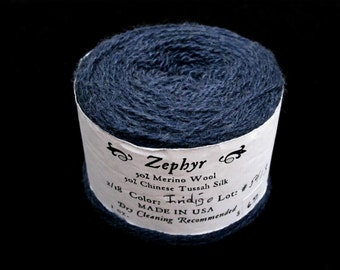 Indigo Blue 2/18 Zephyr Wool/Silk Yarn