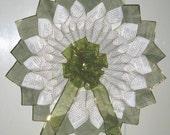 Green & Gold Paper Handmade Wreath