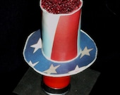 Uncle Sam's Patriotic Hat made from a Recycled 12 Gauge Shotgun Shell