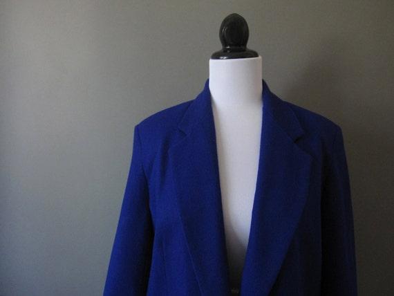 SALE vintage 1990s dumas blue violet oversized wool blazer SALE (was 42.00)