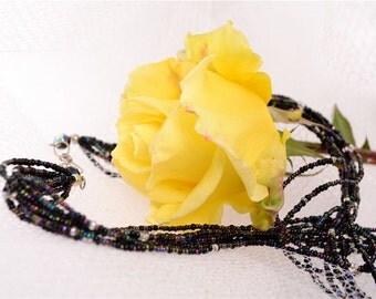 Multi-colored Black Strand Necklace