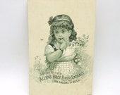 Victorian Trade Card Advertising Allen's Root Beer Extract