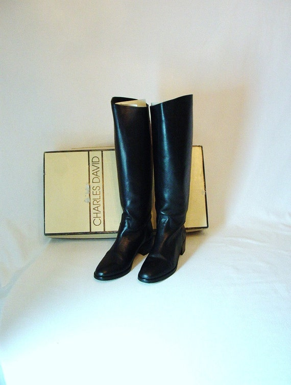 Vintage Charles David Riding Boots - Size 9 1/2M