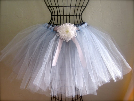 items similar to light blue and silver tutu skirt with
