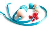 LAST ITEM SALE 50% - Nursing Necklace/Teething Necklace-Turquoise Mint Orange