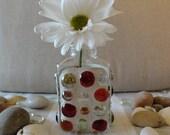 Glass Encrusted Bottle/Bud Vase