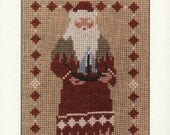 Homespun Collectibles Counted Cross Stitch Santa Pattern Number 40