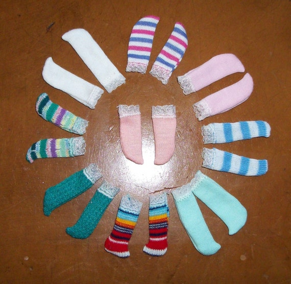 Choose 4 Pairs of Lace Trimmed Socks for Only Hearts Club Dolls, Barbie and Skipper Dolls for Only Five Dollars