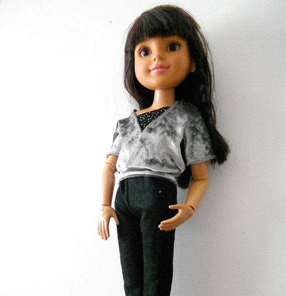 """BFC Doll Clothes 3 Piece Set One Shoulder Shell, Over Top and Pants for Best Friends Club or Similar 18"""" Slim Bodied Dolls"""
