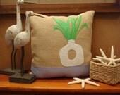 Plant in Modern Vase Buralp Pillow COVER