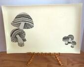 Vintage Mod Mushroom Graphic Serving Tray