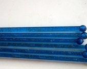 Vintage Swizzle Sticks Mid-Century Cobalt Blue Lucite