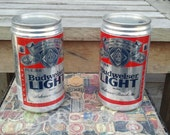 Budweiser Light first edition beer cans--unopened NON-POTABLE