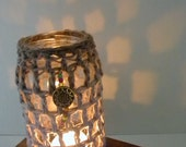 Jar Cozy Crochet Tealight Luminary Home Decor