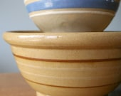 """Reserved Listing - Antique Yelloware Stoneware Bowl 7 1/2"""""""