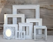RESERVED for Courtney Webster...Shabby Chic repurposed cottage frame set with candle holders and tissue box