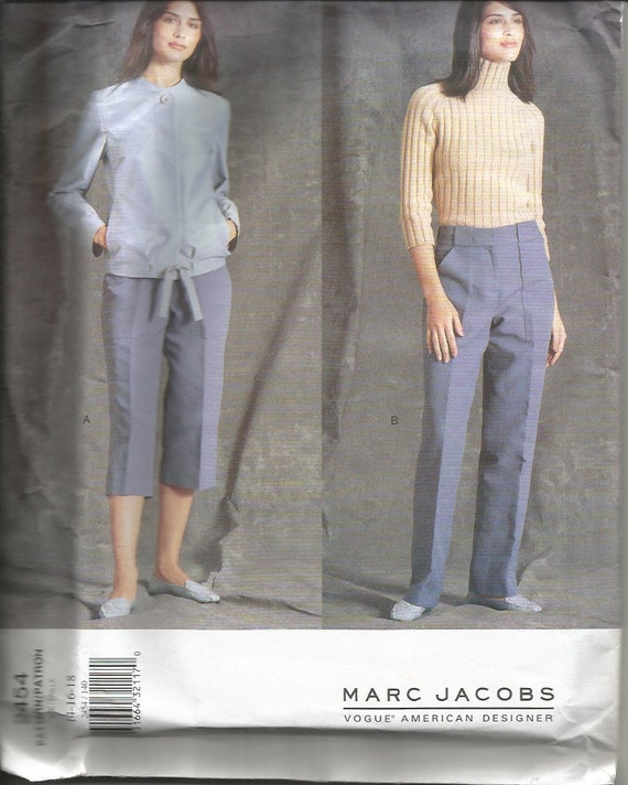 Vogue American Designer Sewing Pattern 2454 Marc Jacobs Jacket and Pants Pattern Size 14-16-18 Factory Folds Uncut