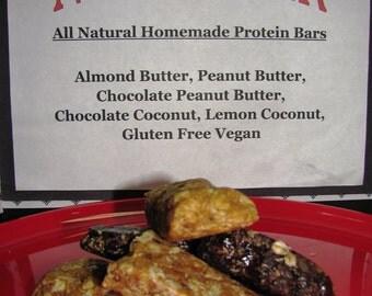 Nosh-A-Whey  All Natural Homemade Protein Bars Peanut Butter, 1 dozen