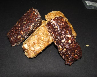 Nosh-A-Whey All Natural Homemade Protein Bars Chocolate Coconut, 1 dozen