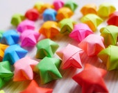 100  Fluorescent Color Origami Stars - Mixed Color