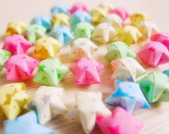 Cute Starry Night Origami Lucky Stars - Mixed Color Wishing Stars/Party Supply/Gift fillers/Home Decor