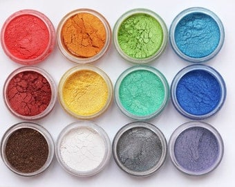 Mineral Eye Shadow Samples/Shimmer shadows with goat milk