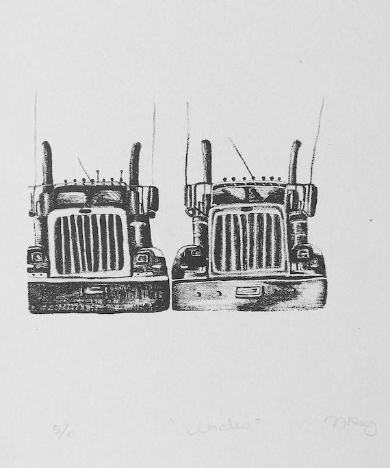 Lithograph - Big Rigs