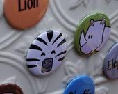 Safari Magnet Set- Faces & Animal Word