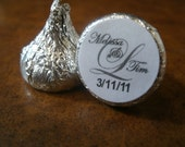 216 Hershey Kiss Overlay Wedding Candy Wrapper Favor Kisses Favors