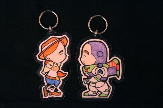 Jessie/Buzz Lightyear His&Hers Keychains