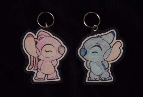 Stitch/Angel His&Hers Keychains