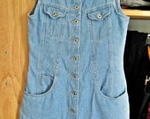 Denim Button-Down Mini Dress Size 6/XS