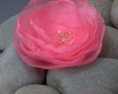 Pink Wedding, Bride, Maid of Honor, Flower Girl, Mother of the Bride Pink Corsage, Brooch, Pin or Hair Accessory