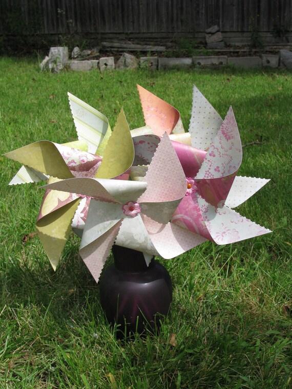 Large Twirling Pinwheels Set of 5  Discounted