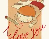Child Artist - I LOVE YOU Card