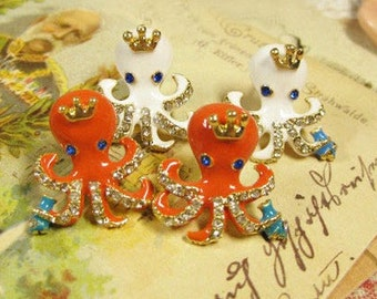 Princess octopus earrings