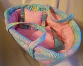 Baby Doll Basket in Turquoise, Yellow, and Pink