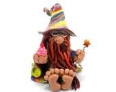 Ginger Gent, Polymer Clay Wizard Figurine, Bearded Weirdo, Original Creation