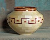 Maple Wood Bowl Segmented Woodturning