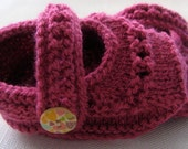 Made to Order - Baby booties size 0 to 6 months