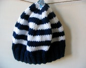 Made to Order - Striped toddler hat age 1 to 3 yrs
