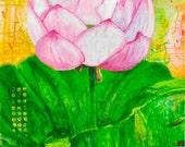 Lotus Bloom Art Print, 7 x 10 inches