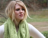 Light Green Cowl Scarf  Cozy Capelet  Deep Loop Scarf - Merino / Cashmere