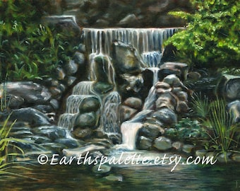 Waterfall, print from ORIGINAL Landscape, waterscape, scenic, 8x10, home & living, wall art earthspalette