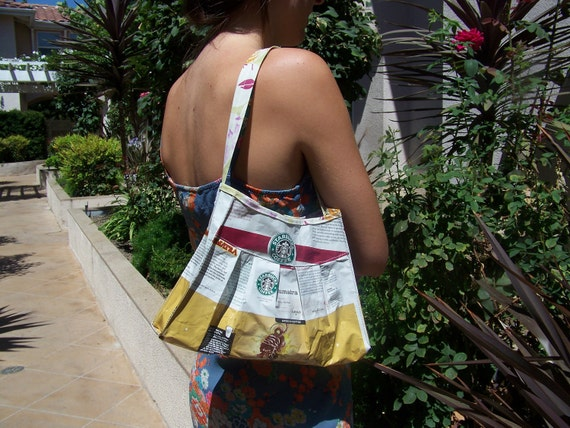 Recycled Coffee Bag Purse