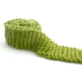 SKINNY scarf - a very long, unisex, chunky knit, adaptable scarf - green apple