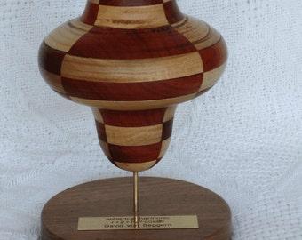 wood sculpture of 4th-order spherical harmonic