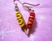 Custom listing for Penny Rose Corn Dog Earrings