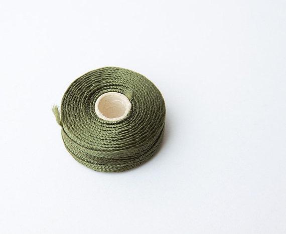 240 Yards Dark Green Nylon Cord -3 ply- set of 8 Nylon Beading Cord, Jewelry cord, S Lon Cord, conso, jewelry string, green cord, waxed cord